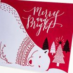 Purchased artwork to create these Christmas card designs.